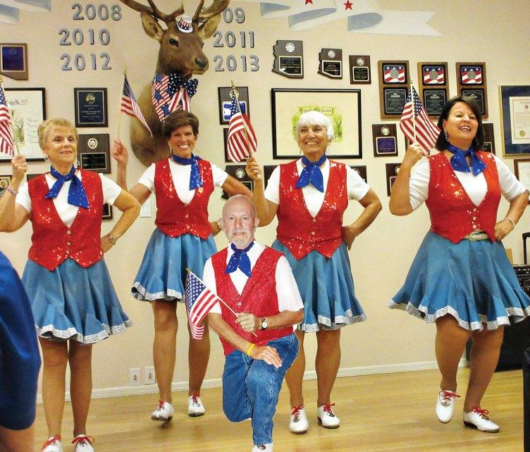 From left: Pat Cox, Diane Korn, Skip Brauns (kneeling) Donna Leonard and Sylvia Bonesky