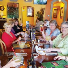 The chance to gather with friends brought smiles all around at the luncheon at La Hacienda.