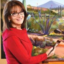 Artist Diana Madaras at work