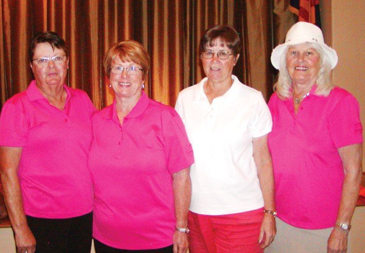 President's Cup winners, left to right: Karyle Steele, Linda Rouse, Karen Koch, Marilyn Horn; photo courtesy of Holly Riviere