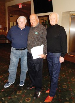 The old and the new presidents of the JFG: Steve Grabell, Bill Kaplan and Sy Efron