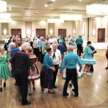 Seven squares dancing