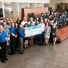 Tucson Subaru presented YOTO with a check for $69,534 on Wednesday, April 13.