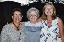 Sandi Chester, Maggie Falconer, Debra Finn; missing Brenda Brown – Hawks