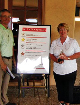 Club Pro Mike Jahaske and Club Champion Linda Rouse