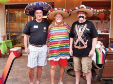 Left to right: Floyd Roman, Steve Bellacuqa and Bob Muise (Pancho Villa)