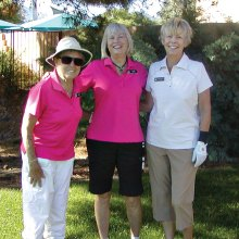 Left to right: Holly Riviere, Linda Miles and Diane Mazarella; not pictured Ilene Skinner