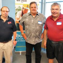 Left to right: Dick Kroese, Pastor Steve Wilson and Keith Gordon