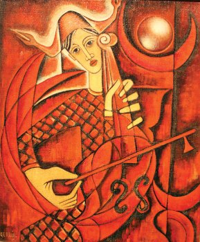 Red Musician by Jose Maria de Servin