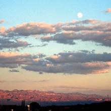 Moonrise over the Galiuros. Photo by Kaori Hashimoto.