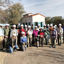 SaddleBrooke Hikers at the spring work session on the Arizona Trail in Oracle State Park. Photo by Gary Faulkenberry.