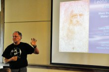 Larry Richter's topic for the lecture series was an in-depth view of Leonardo da Vinci's life.