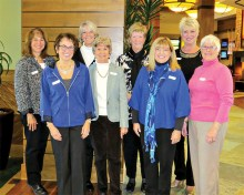 Welcome to the Club! First-time attendees, first row left to right: Carol Mihal, Rita Teresi, Noreen Prindiville, Karen Lanning and Maryellen Duncan; back row right to left: Elaine Brown, Jeanne Jensen and Pam Horwitt