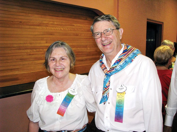 Kathy and Norm Smith are ready to dance.