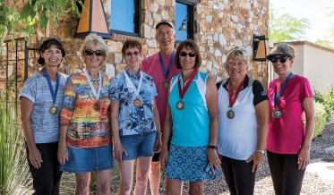 Kathy Becker, Joy Ullock, Mary Ann Eckert, Terry Zimmerman, Pilar Borm, Sherrie Hawk and Brenda Mills