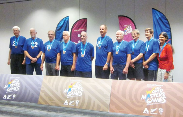 Don with his Bronze medal winning team. Don is third from the left.