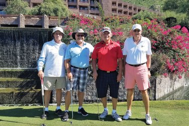 Men's third place: John Hess, Bob Christianson, Bill Smith and Jim Cook with a score of 61!