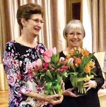 Elise Grimes and Anne Everett were honored for their many years of service on the SBCO Board of Directors.