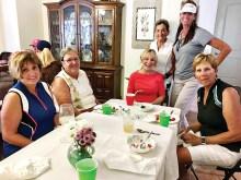 Lee Rinke, Cheri Alfrey, Marion Ewing, Sue Wells, Denise Sandoval, and Lorraine Smith enjoying ice cream.