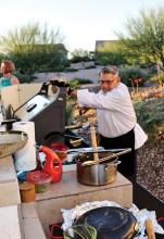 Chef Bill Allen preparing a memorable meal. Photo by Bill Nixon.