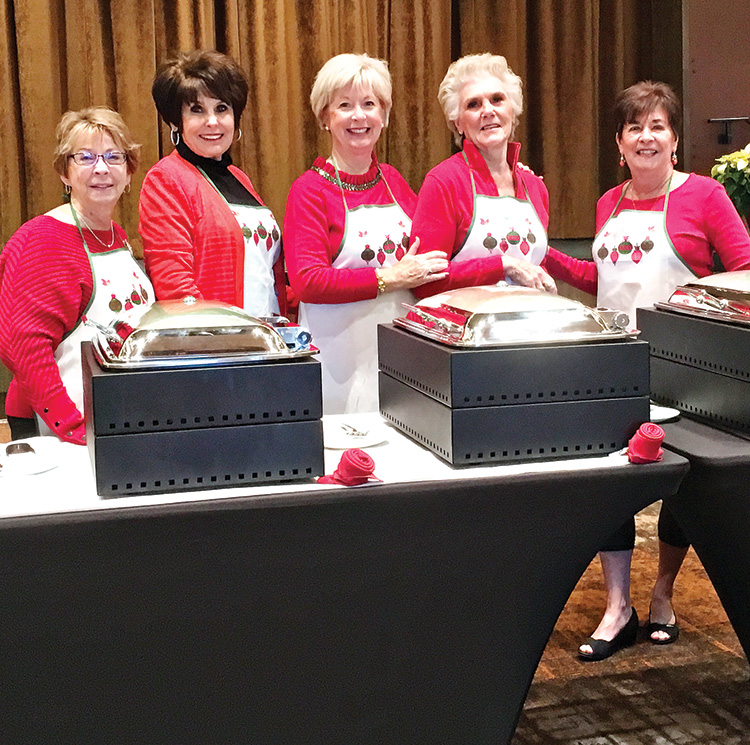 Left to right: Sandy Seay, Mindy Hawkins, Colleen Carey, Judy Andrasic, and Mary Spyros.