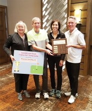 Kate and Paul Thomsen, PThomsen Consulting, LLC, SBR Couples Golf Championship sponsor with Beth and Jon Wittmann, gross champions.