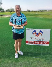 Linda Chonle wins the Telegraph Tournament, sponsored by Todd's Pest Control.