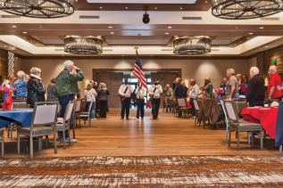 Color Guard from American Legion Post 132, Oro Valley presenting the flag. (Photo by Steve Weiss)