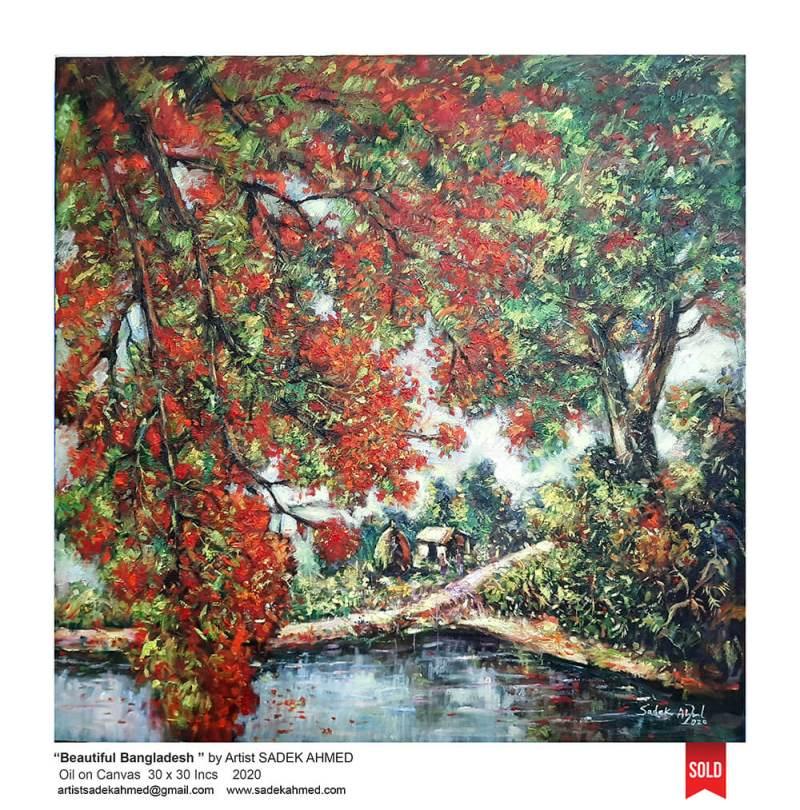 Krisnachura, Flower of Bangladesh, Season of Bangladesh, Spring, Artist of Bangladesh