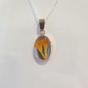 Silver Crocus Pendant