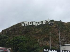 Wellington sign outside Wellington Airport! Windy Wellington