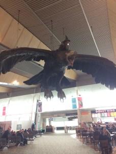 Huge model of Gandalf at Wellington Airport