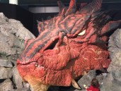 Huge model of Smaug at Wellington airport