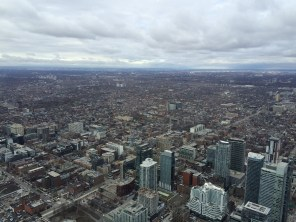 View from the top of Toronto's CN tower