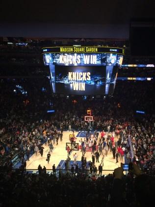 Knicks win!!