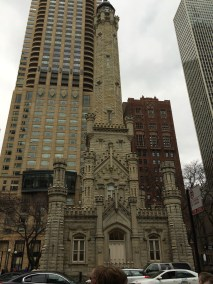 The original water tower in Chicago.
