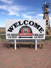 Half way point of Route 66