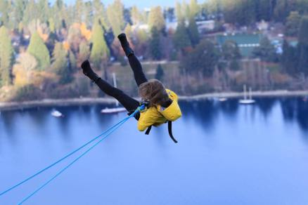 AJ Hackett's Ledge Swing- Queenstown- 400 metres above the town.