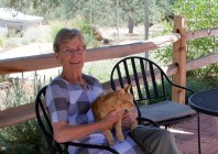 Grandmother and Resident Cat