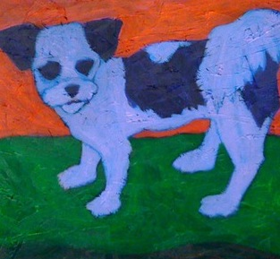 A painting of Sadie by Mrs Vicki