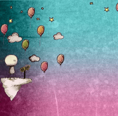 Cute Twitter background balloons and rainbows