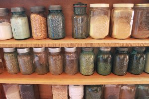 Some of the spices and herbs used in the loaves