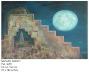 Mansoor Saleem - Pir patho (Sindh) - Oil on Canvas - 25 x 36 Inches - Rs. 65,000