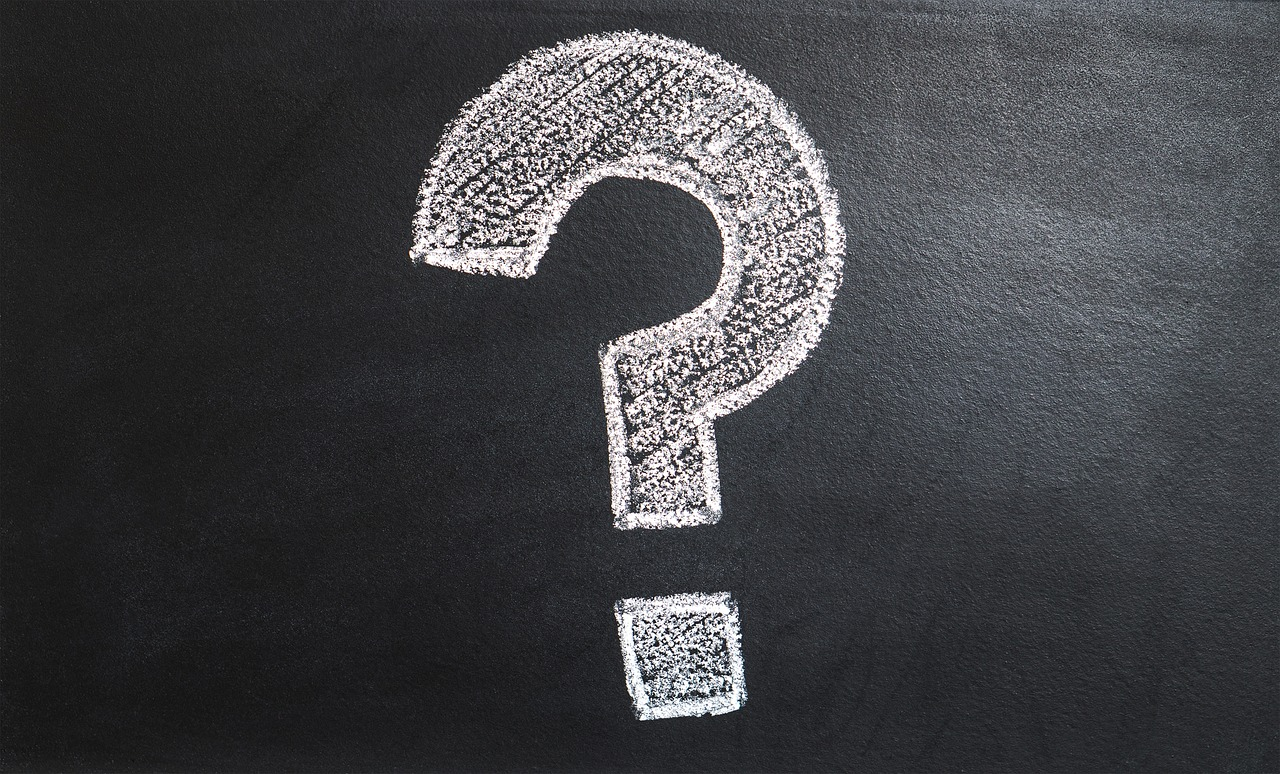 Chalkboard with Question Mark
