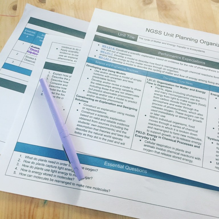 Three Page Template for Objectives