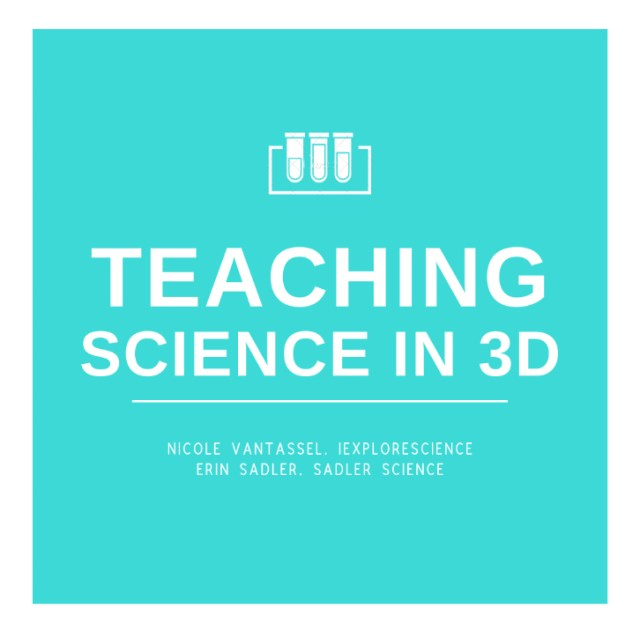 Teaching Science in 3D podcast logo, helping you meet the intent of the NGSS