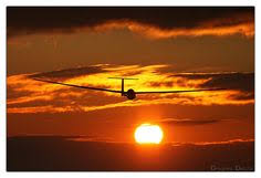 Gliding at sunset