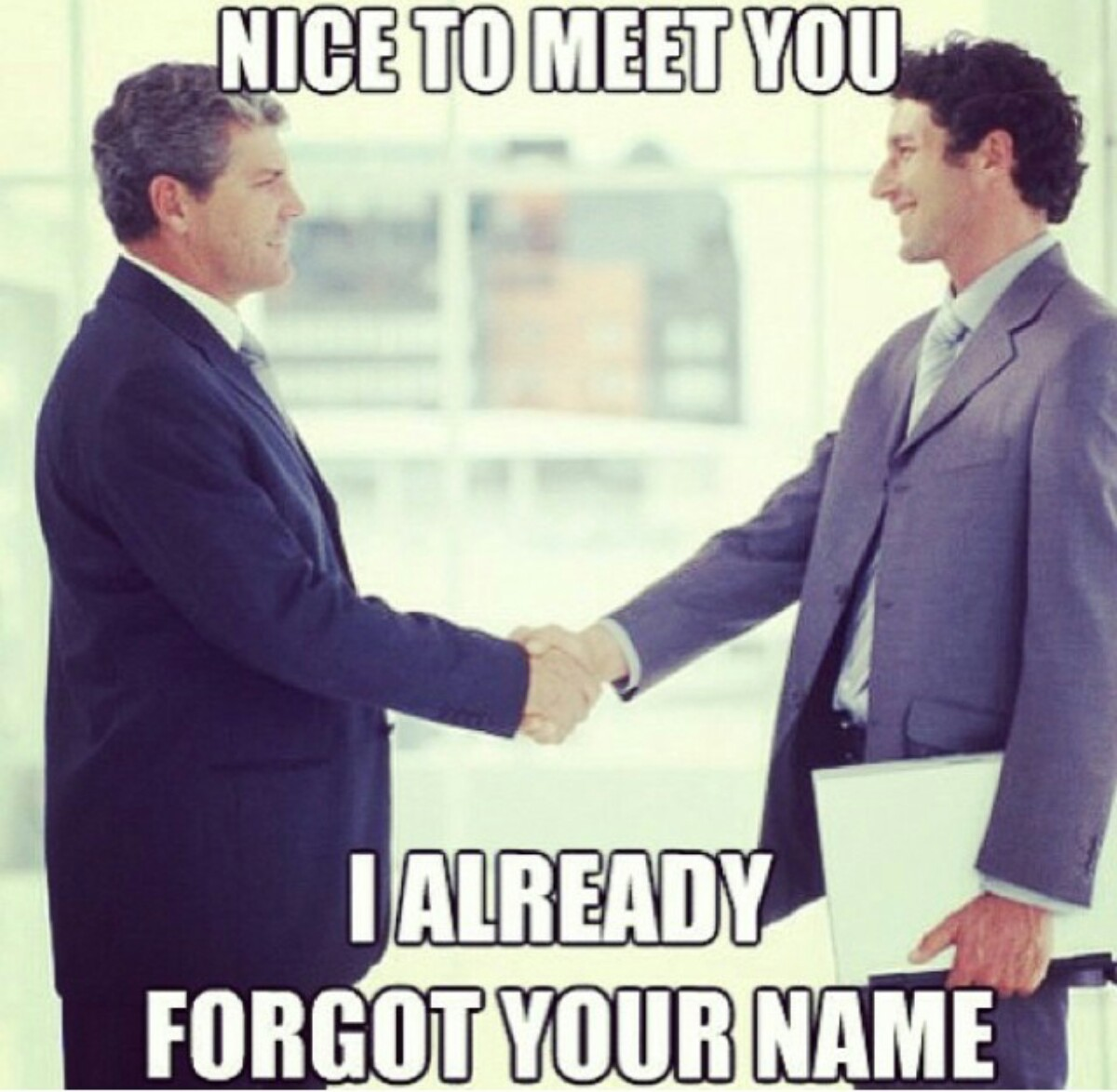 Image result for forgetting someone's name memes