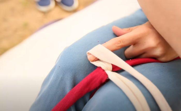 """Bagaimana untuk melipat """"sisi"""" reben"""