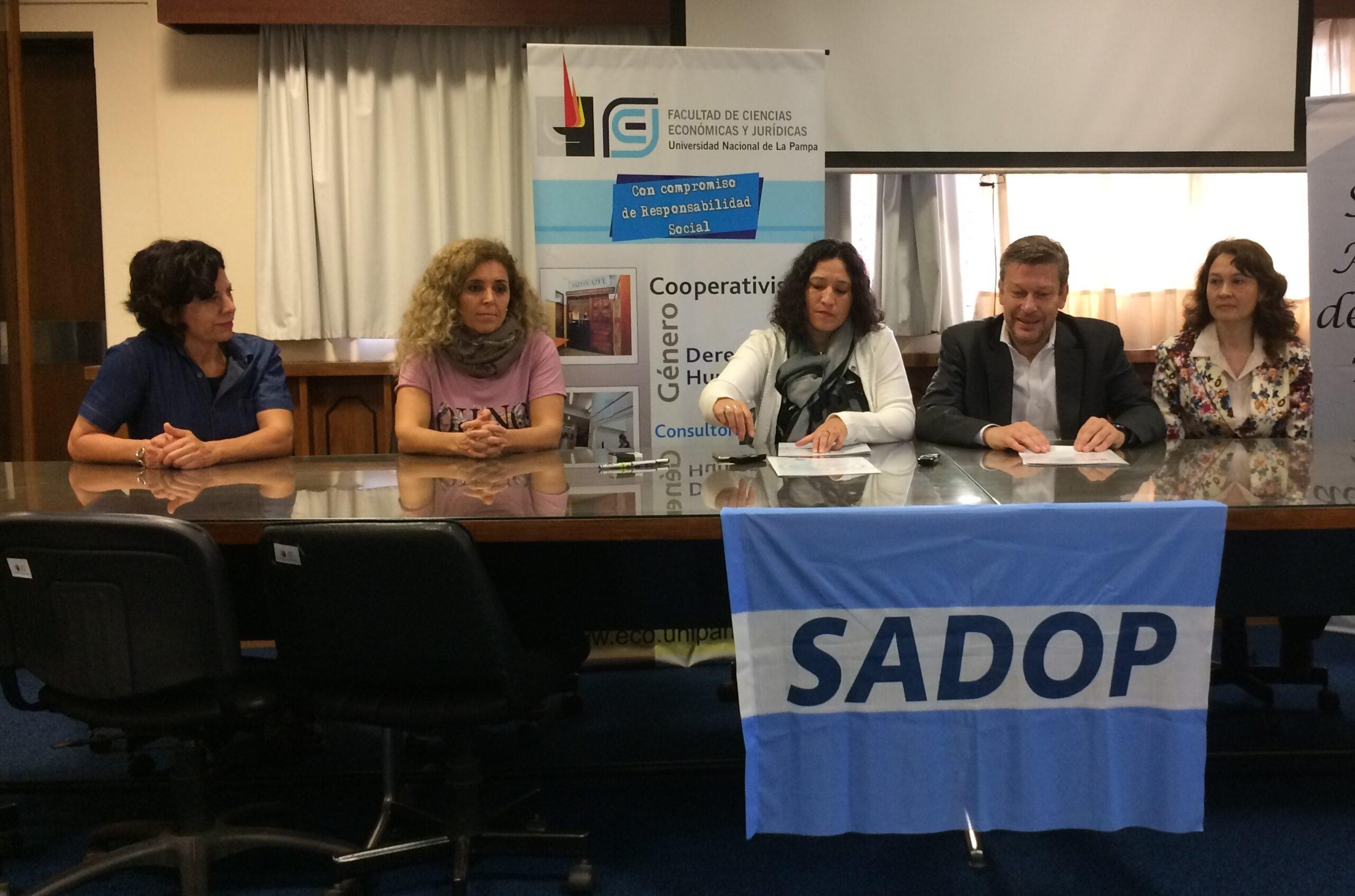 En este momento estás viendo Convenio de Cooperación Académica entre SADOP Secc. La Pampa y la FCEyJ de la UNLPam